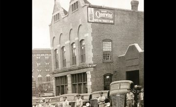 A look at an old photo reveals the Carolina Beverage Corporation in its earlier days as Cheerwine's headquarters.