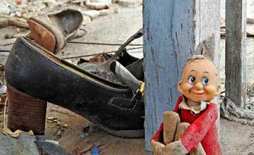 Elf and an Old Shoe