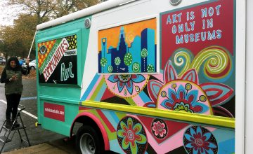 Rosalía Torres-Weiner brings art to her Charlotte community with her Red Calaca art truck.
