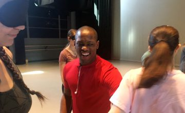 Davian Robinson brings the same huge smile and enthusiastic spirit into each dance class and to every aspect of his life.