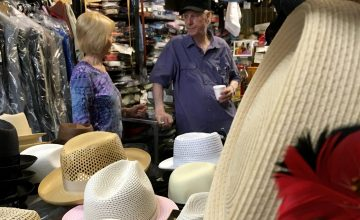 Mitchell's Clothing has brought high fashion to Greensboro for decades, including name brand hats like Stetson and Kangol.